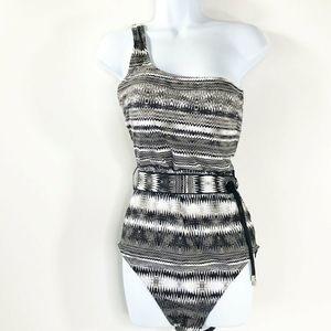 Calvin Klein one piece swimsuit black white